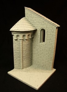 35-28 Medieval church corner
